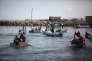 Des enfants palestiniens montrent leur soutien à la troisième «Flottille de la liberté», le 14juin, à Gaza