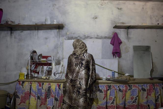 Une réfugiée syrienne, dans la vallée de la Bekaa (est du Liban), en octobre2014.