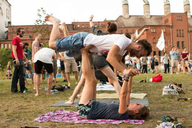 Organisés depuis 2012 à Berlin, les Hipster Olympics, parodies de concours sportifs, s'amusent gentiment des modes hipsters. Ici, le 28 juin 2015.