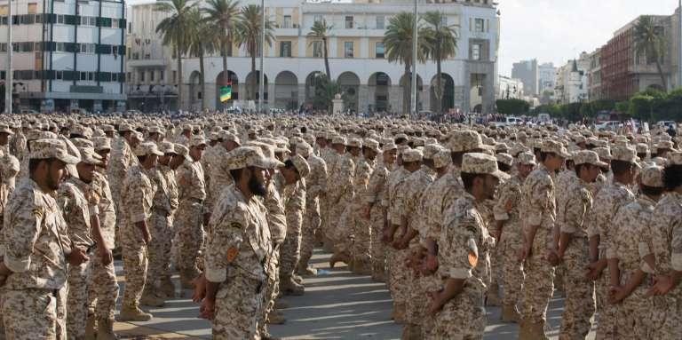 Des soldats sous l'autorité du gouvernement de Tripoli, le 13 août 2015.