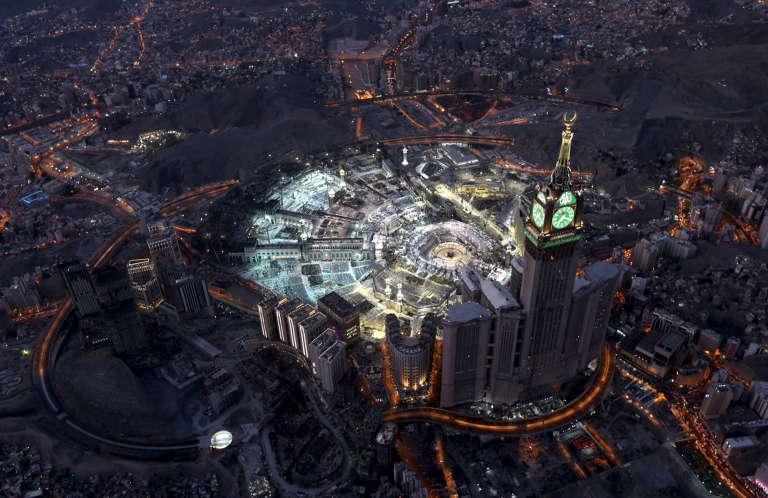 Vue aérienne de la grande mosquée pendant le ramadan, en juillet 2015.
