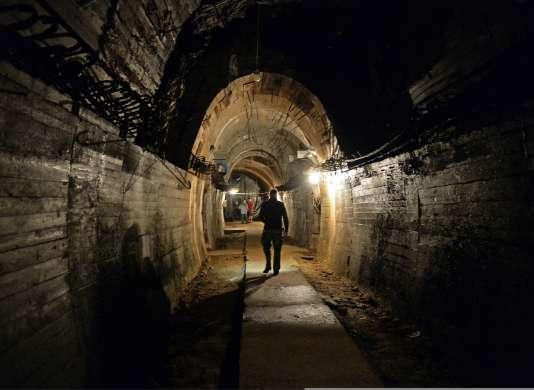 Une galerie souterraine faisant partie du projet Riese, sous le château Ksiaz à Walbrzych, en Pologne.