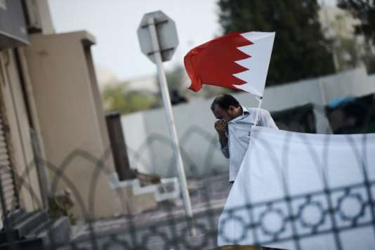 Lors d'une manifestation à Bahreïn le 28 août contre l'arrestation du leader de l'opposition chiite.