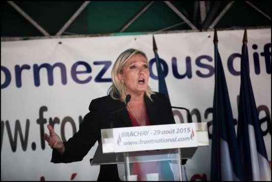« L'immigration en France est aujourd'hui hors contrôle », a estimé Marine Le Pen lors de son discours à Brachay (Haute-Marne).