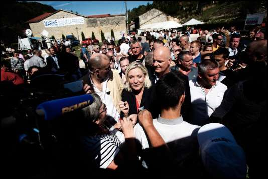 Marine Le Pen, le 29 août à Brachay.