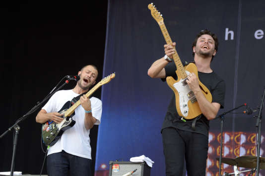 Le groupe britannique The Maccabees a ouvert la deuxième journée de Rock en Seine.