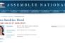 Capture d'écran de la page consacrée à Sandrine Hurel sur le site de l'Assemblée nationale.