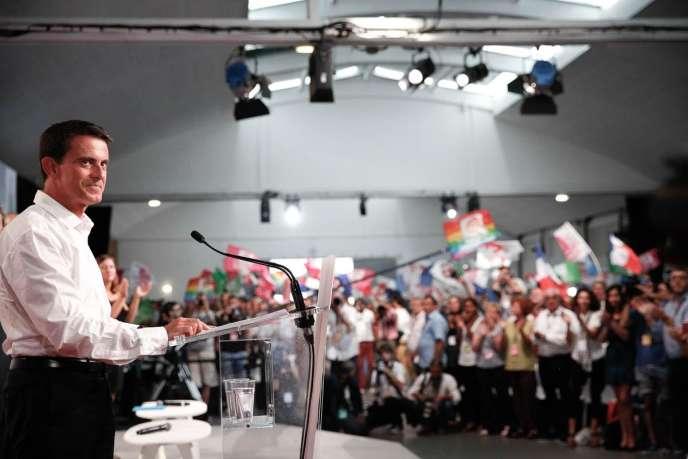 Manuel Valls a clôturé l'université d'été du PS à La Rochelle, dimanche 30 août.