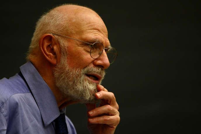Le neurologue Oliver Sacks lors d'une conférence à l'université de Columbia à New York, le 3 juin 2009. Il est mort le 30 août à New York des suites d'un cancer.