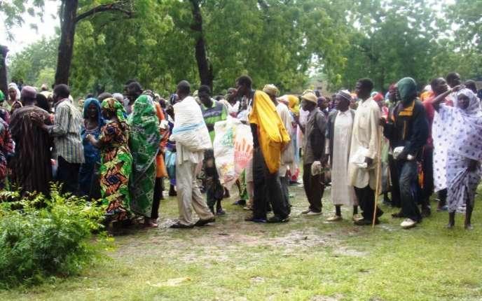 Des déplacés, dans le village de Mora au nord du Cameroun, en août 2015.