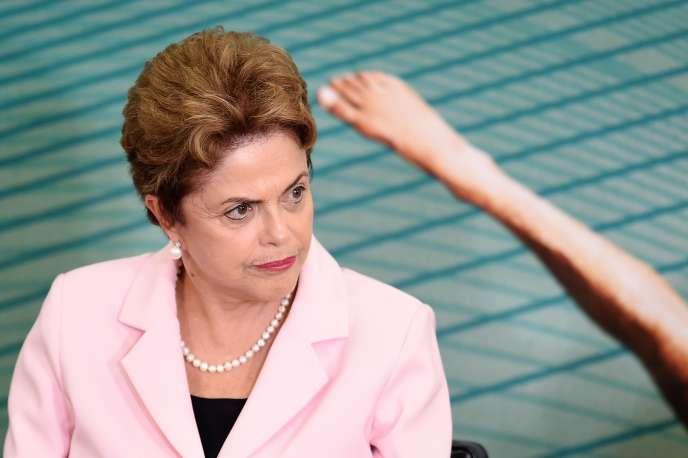 Dilma Rousseff le 27 août 2015 à Brasilia.