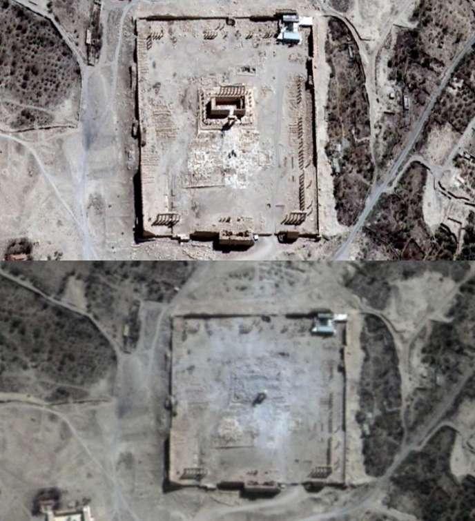 L'image du haut a été prise le 27 août, celle du bas le 31 août.