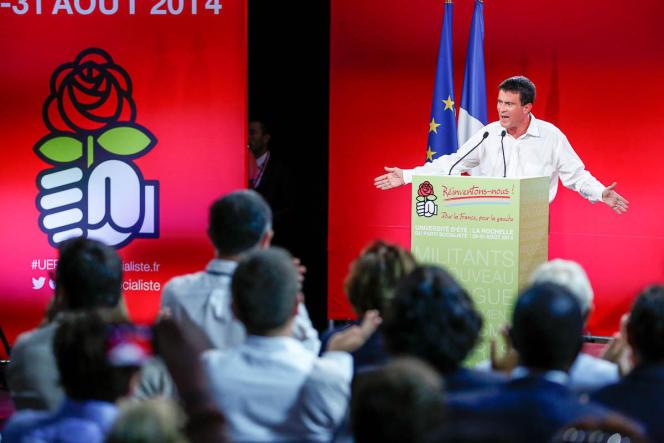 La gauche a, par définition, toujours besoin d'un – appelons cela comme on veut – grand dessein, New Deal, horizon d'avenir nettement formulé. Manuel Valls à La Rochelle, le 31 août.