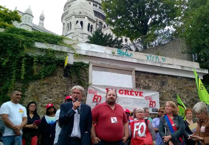 Jean-Claude Mailly, secrétaire général de Force ouvrière, lors d'une manifestation de soutien aux
