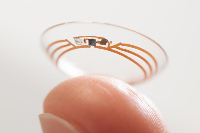 Le projet de lentille de contact «intelligente» de Google, capable de mesurer la glycémie des diabétiques.