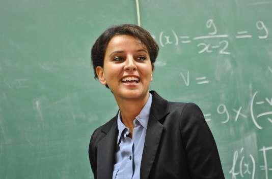 Najat Vallaud-Belkacem dans un lycée de La Rochelle le 28 août.
