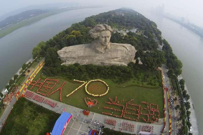 Cérémonie de commémoration des 70ans de la reddition du Japon, à Changsha (province du Hunan), le 30août.