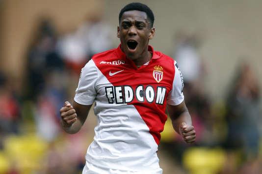 Le joueur monégasque Anthony Martial, 19 ans, le 3 mai 2015 au Stade Louis-II, à Monaco.