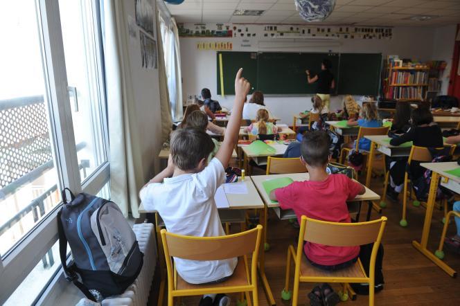 Une classe d'école primaire à Aytré (Charente-Maritime), le 1er septembre.