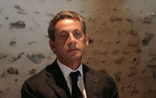 Nicolas Sarkozy, à Saint-Fargeau le 19 août.