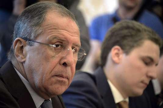 Sergueï Lavrov, ministre russe des affaires étrangères, lors d'une rencontre avec l'opposition syrienne, le 31 août, à Moscou.