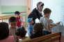 Inauguration de l'école du s@voir, maternelle privée musulmane, Blois. Le 30 aout 2015.