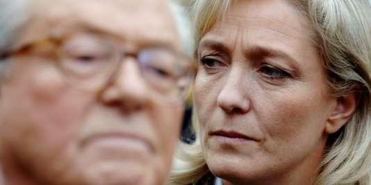 Jean-Marie Le Pen et Marine Le Pen, le 17 mars 2007.