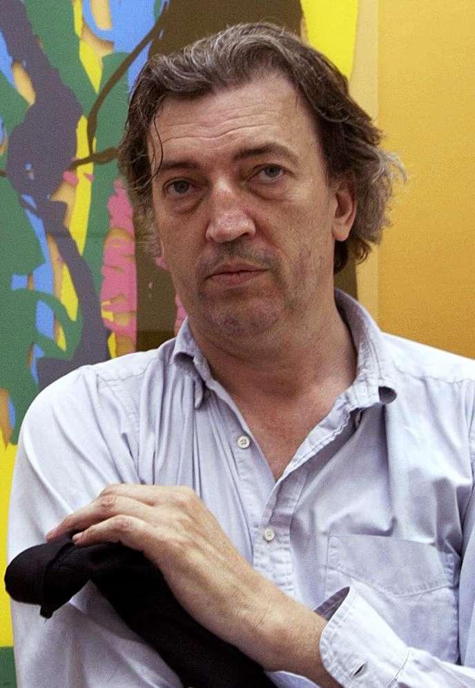 L'artiste Jean-Marc Bustamante lors de la cérémonie d'inauguration du pavillon français à la 50e Biennale d'art de Venise en juin 2003.