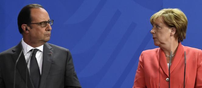 François Hollande et Angela Merkel à Berlin le 24 août.