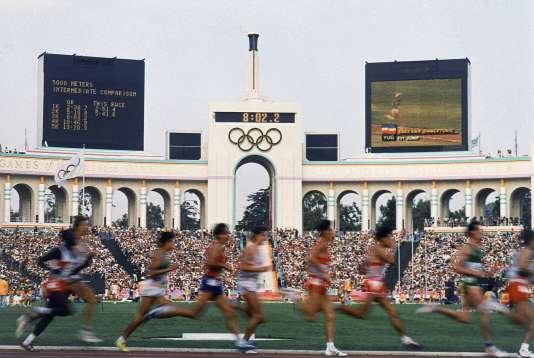 Le stade Coliseum de Los Angeles durant les Jeux olympiques de 1984.