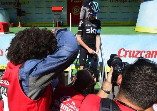 Froome au départ de la sixième étape de la Vuelta, à Cordoue, le 27 août 2015.