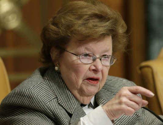 La sénatrice démocrate Barbara Mikulski, le 12 mars 2015 à Washington.