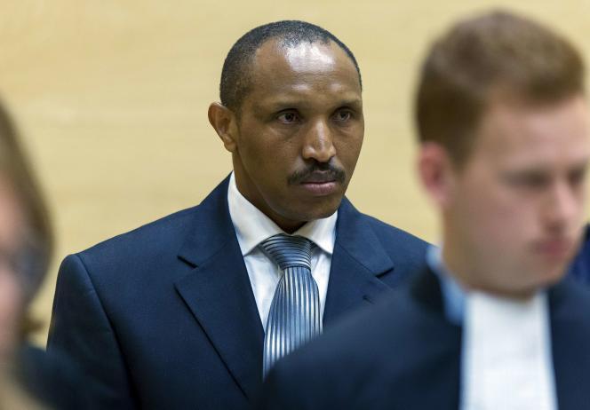 Bosco Ntaganda face à la Cour pénale internationale (CPI) à La Haye, au premier jour de son procès pour crimes contre l'humanité et crimes de guerre, le 2 septembre.