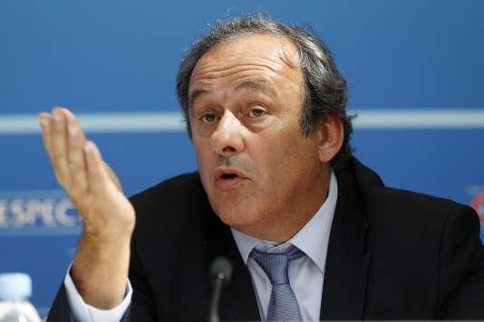 Michel Platini, le 28 août, à Monaco.