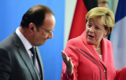 Angela Merkel et François Hollande, à Berlin, le 24 août.