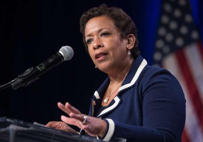 Le procureur général Loretta Lynch. Le ministère américain de la justice a diffusé, mercredi 9 septembre, une directive qui encourage les procureurs à poursuivre individuellement les banquiers et dirigeants d'entreprise indélicats.