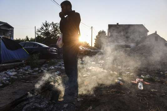 Un migrant syrien à Presovo en Serbie le 28 août 2015.