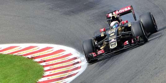 Romain Grosjean à Spa-Francorchamps, le 23 août.