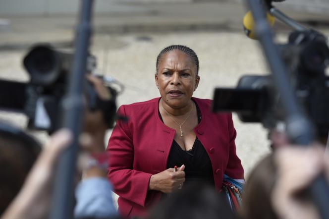 La ministre de la justice, Christine Taubira, le 2 septembre.