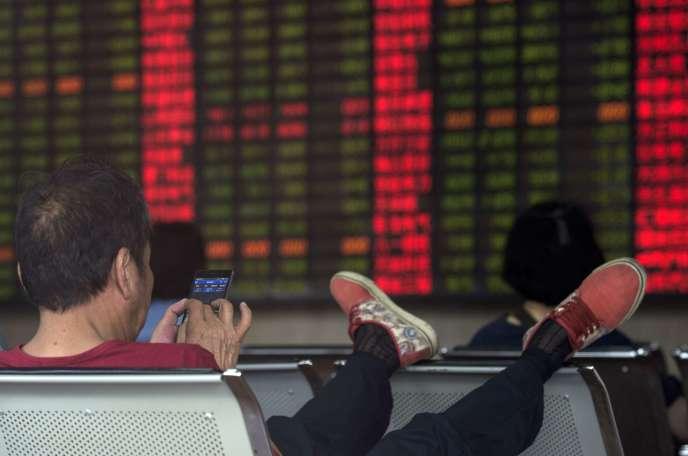 Le 1er septembre à la Bourse de Shanghaï.