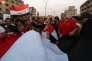 Lors d'une manifestation, à Bagdad, le 28août.