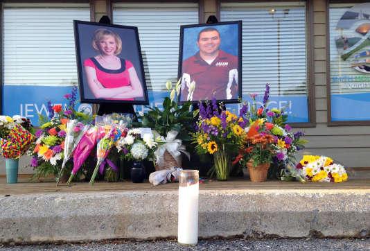 Le mémorial en l'honneur des journalistes assassinés en Virginie le 26 août 2015.