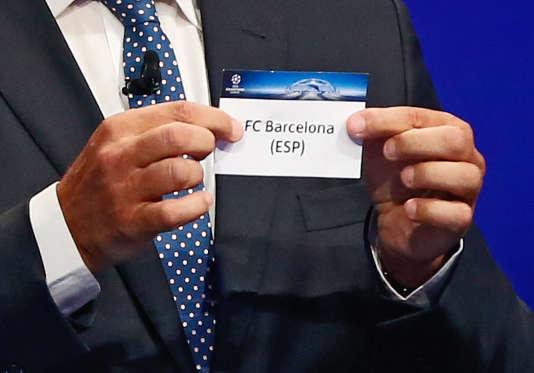 Lors du tirage au sort de la Ligue des champions, le 27 août à Monaco.