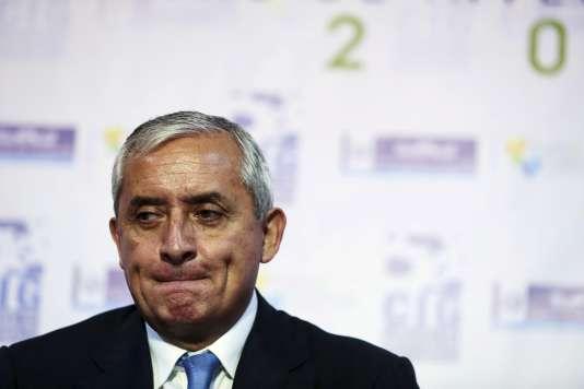 Otto Pérez, le 30 mai à Guatemala City. REUTERS/Jorge Dan Lopez/Files      TPX IMAGES OF THE DAY