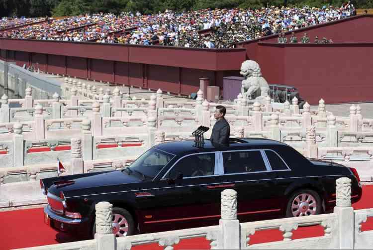 """""""La Chine ne recherchera jamais l'hégémonie, pas plus qu'elle ne cherchera à s'étendre. Elle n'imposera jamais des souffrances tragiques à d'autres nations"""", a assuré le président Xi."""
