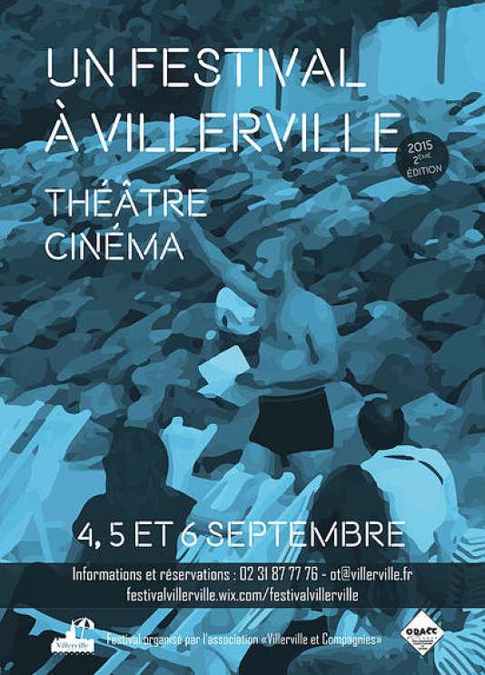L'affiche du festival... Un festival à Villerville, organisé du 4 au 6 septembre.