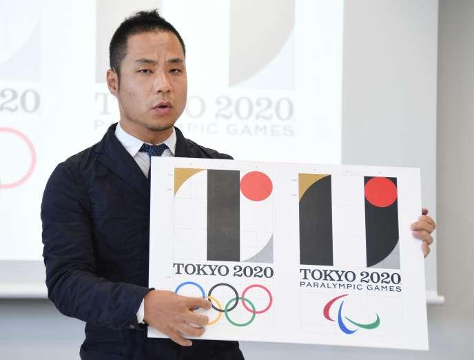 Le désigner japonais du logo des Jeux olympiques 2020, Kenjiro Sano, le 1er septembre.