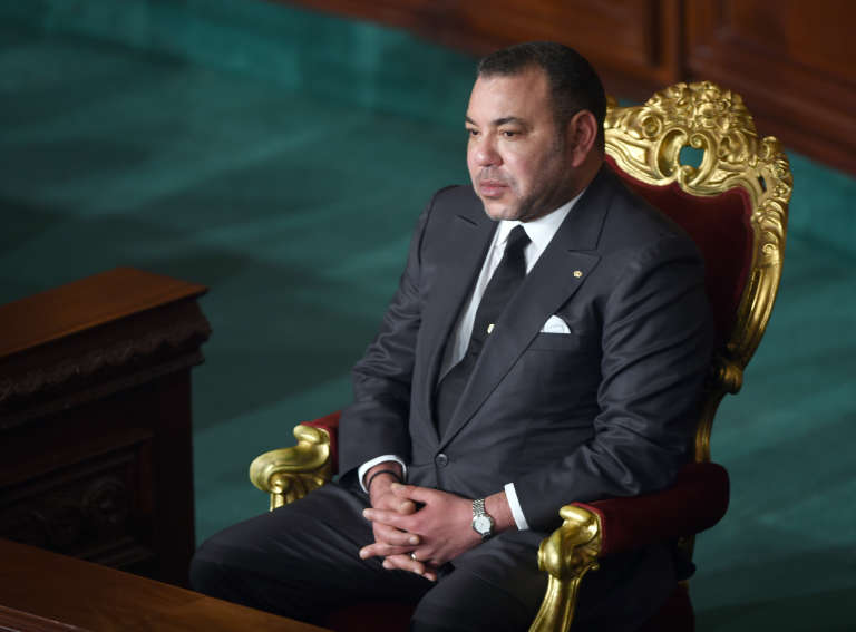 Le roi Mohammed VI, en 2014, à Tunis.