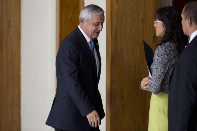 Le président Otto Pérez Molina, lors d'une conférence de presse, le 31 août, à Guatemala.