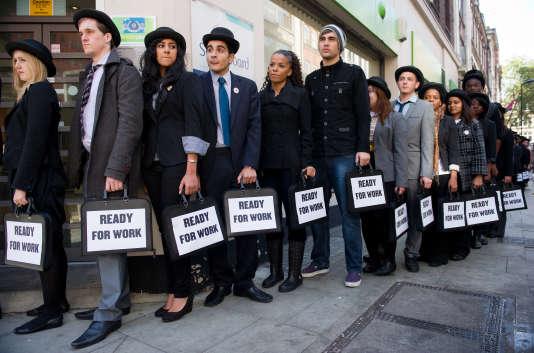 Manifestation contre le chômage des jeunes à Londres en 2011.